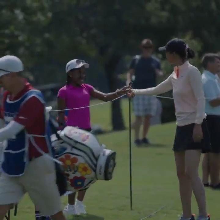 Braelinn PGA Junior League team member had a great day! Thank you @MichelleWieWest!