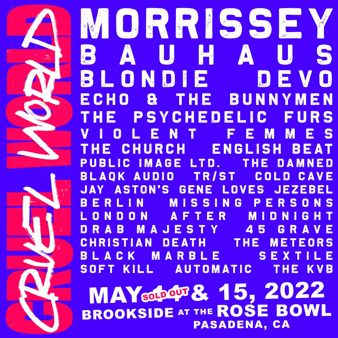 Cruel World Festival lineup 2022