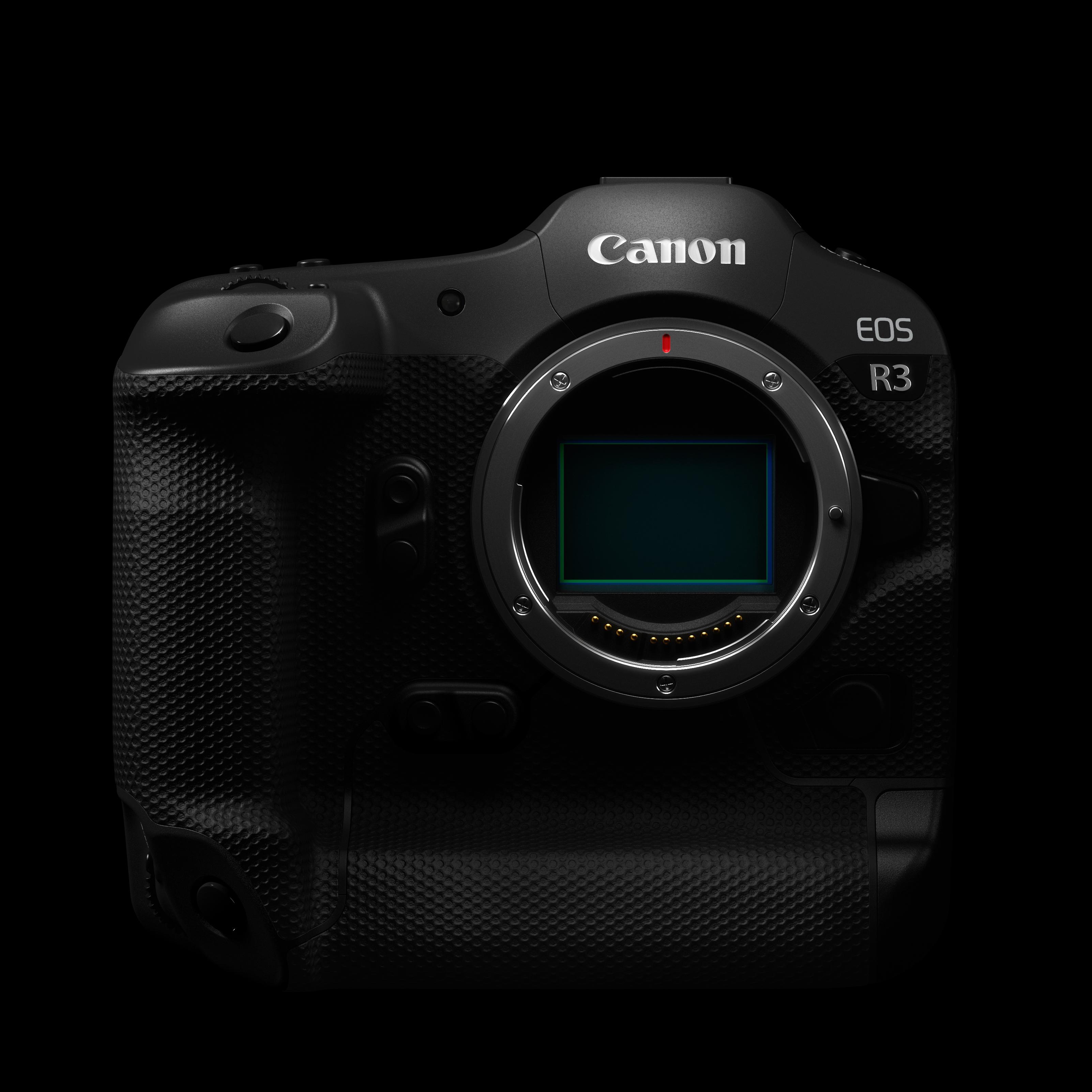 The Canon EOS R3 camera body.