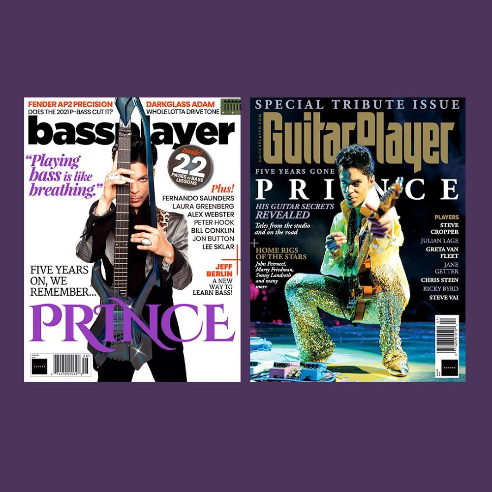 In a fitting tribute to how multi-talented Prince was as an instrumentalist, he is featured on the cover of both@GuitarWorldand@GuitarPlayerNowmagazine this summer. Photography (by@MikeRuiz1and@KevinMazur) is from Prince's#Welcome2Americaera. https://t.co/HSKDWUto18