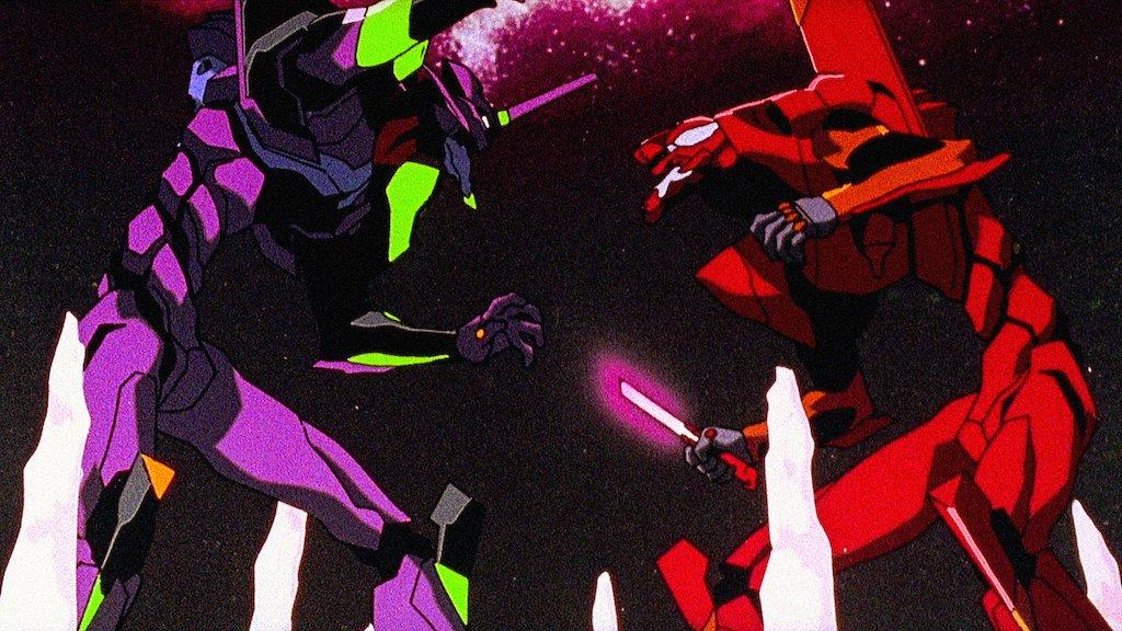 neon genesis evangelion eva fighting