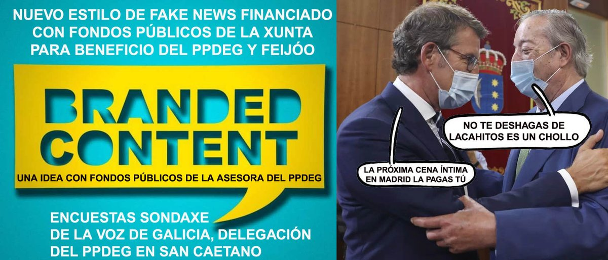 """XornaldeGalicia على تويتر: """"Mar Sánchez nueva forma de defraudar DINERO  PÚBLICO a TRAVÉS de #brandedcontent ; #xunta y #sergas #esfuerzo @xunta  #funcionpublica @XuntaVice #Galicia #Pontevedra #Sanidad #SERGAS #Xunta  #Coronavirus #COVID19 @populares ..."""