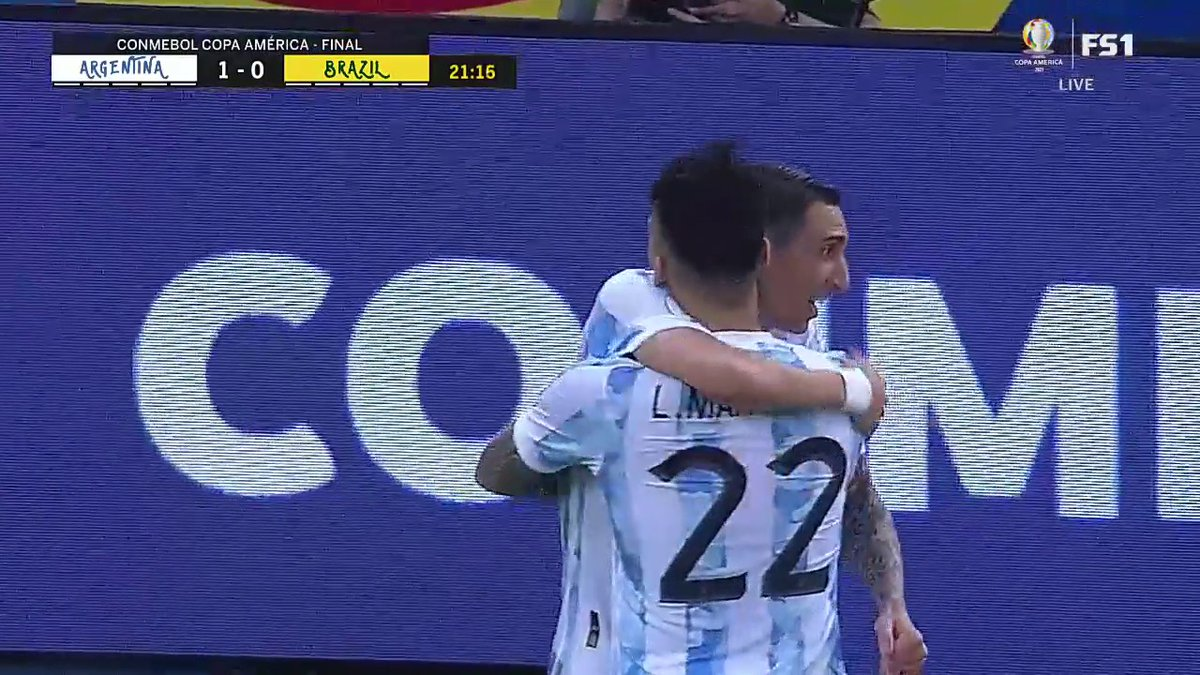 Di Maria gives Argentina the lead with a sweet finish 🔥 @brfootball   (via @FOXSoccer)   https://t.co/aRgiAD1yuT
