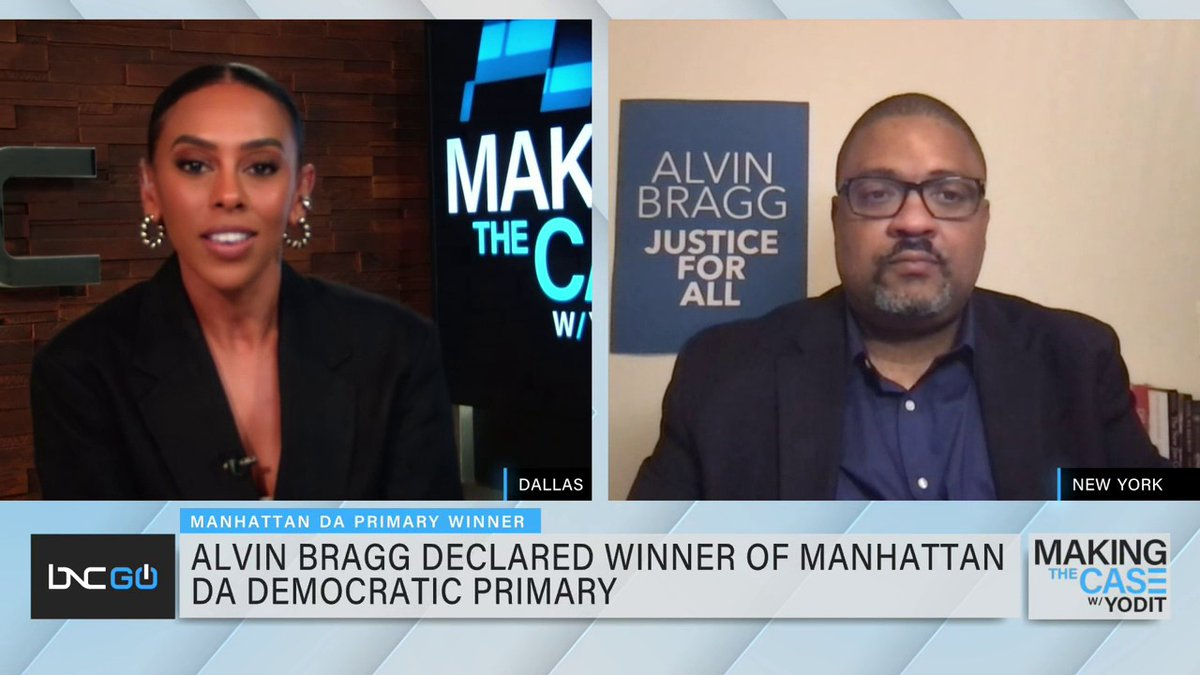 Alvin Bragg (@AlvinBraggNYC) is a step closer to becoming the first Black district attorney in #Manhattan history after winning the borough's DA #Democratic primary. He joins #MakingTheCase to discuss the importance of representation in this position. https://t.co/JnedjaTP2C