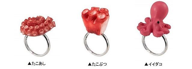 コンプリートしたい!たこ焼きモチーフの指輪がカプセルトイで登場!