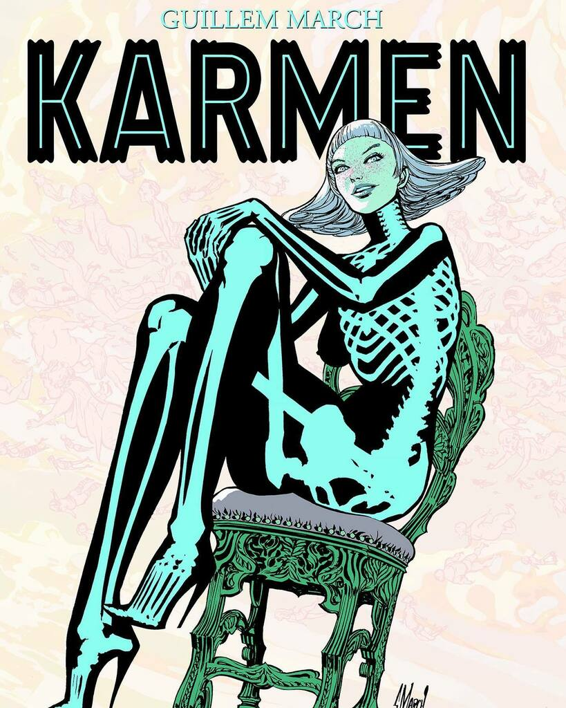 The last issue of KARMEN is out. This moment has taken 41 years and some thousands of pages drawn. instagr.am/p/CRG0IZBMyIJ/
