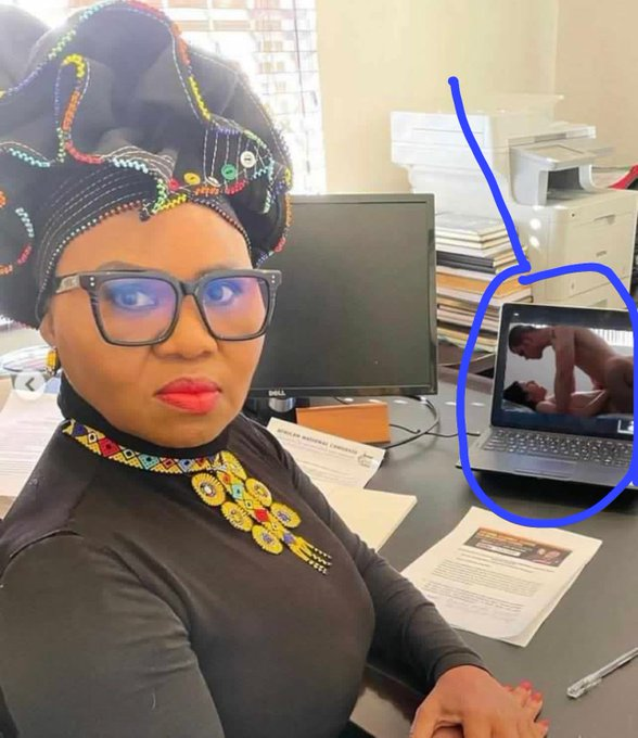 Pictures: Minister Lindiwe Zulu pictures allegedly watching p0rn floods social media