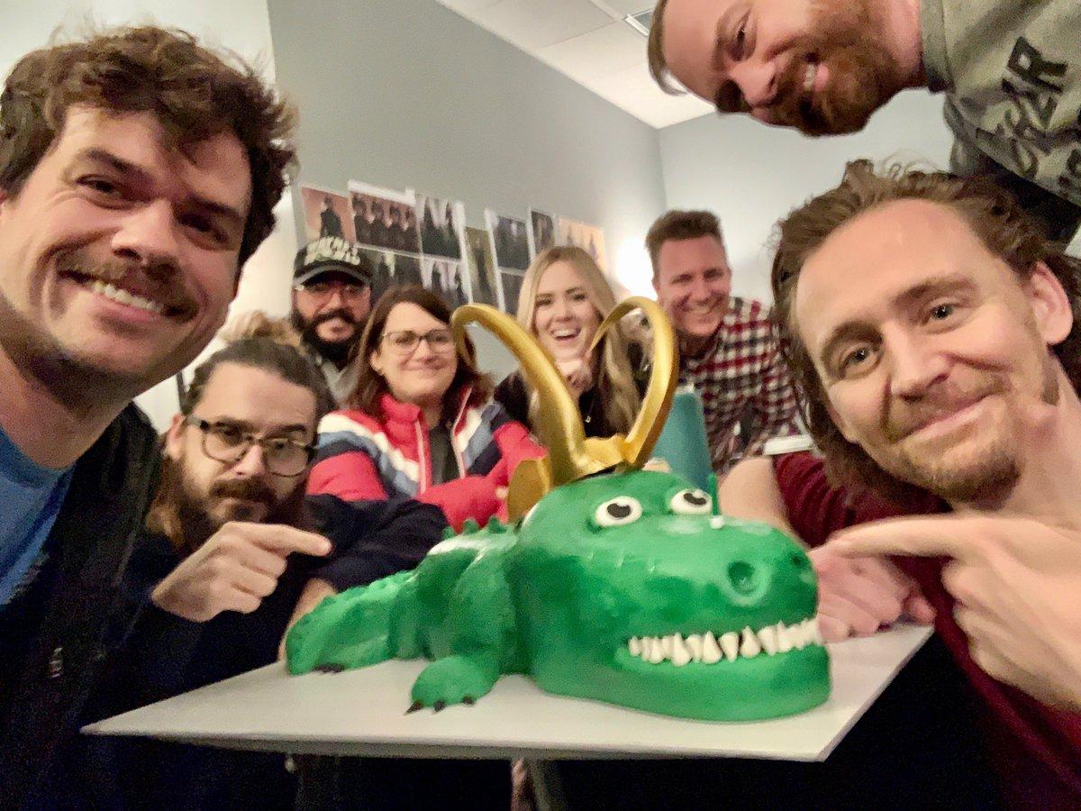 Behind The Scenes Hilarious Alligator cake picture.