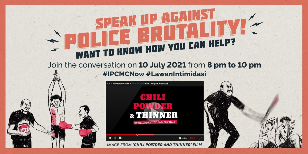 In the past two weeks we've seen the gov't try to silence critics of police brutalityWe're barely into July, and there are 12 publicly recorded deaths in custodyVictims and their families deserve justiceLet's #LawanIntimidasi ! Demand #IPCMCnow Demand justice! Action below: https://t.co/kBM0WZp9LU