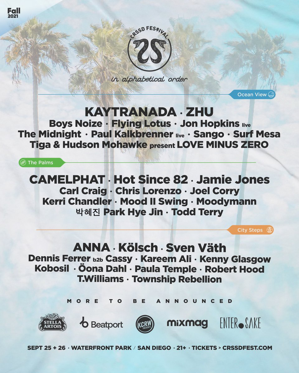 CRSSD Festival Fall 2021 lineup