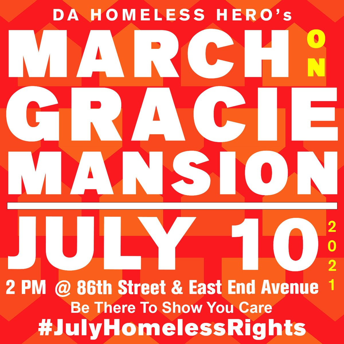 Incredible activists will be joining us to march on Gracie Mansion and declare that Homeless Rights are Civil Rights. Speakers: @homeless_hero, @mayawiley, BLM NY founder @IamHawkNewsome, DA nom @AlvinBraggNYC, CC noms @crystalrhudson @Kristin4Harlem, Elder @KirstenJohnFoy +more! https://t.co/QkP2cX3WQ1