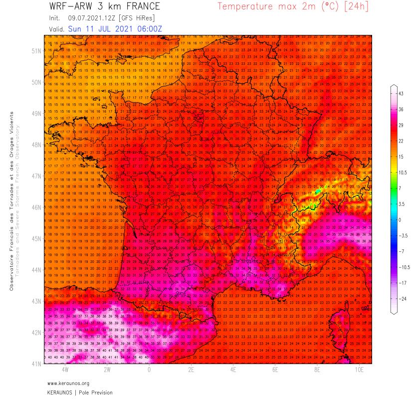 Fortes chaleurs dans le sud ce week-end, notamment dimanche où les 35°C pourront être atteints avant la chute du début de semaine prochaine.