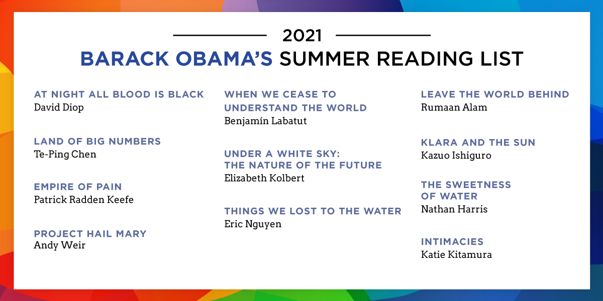 While we were still in the White House, I began sharing my summer favorites—and now, it's become a little tradition that I look forward to sharing with you all. So here's this year's offering. Hope you enjoy them as much as I did. https://t.co/29T7CcKiWZ