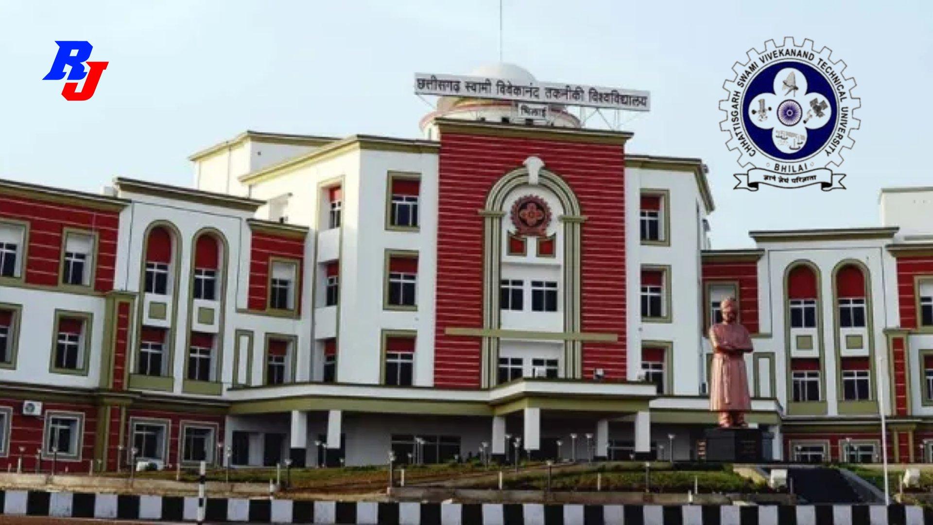 Temporary Faculty Posts (Online Interview) in CSVTU, Bhilai, Chhattisgarh, India