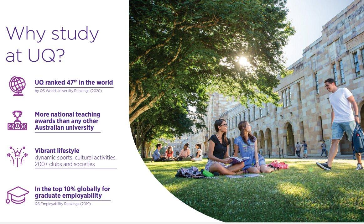India Global Leaders Scholarship at University of Queensland, Australia