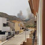 Image for the Tweet beginning: Incendio entre Almargen y Cañete