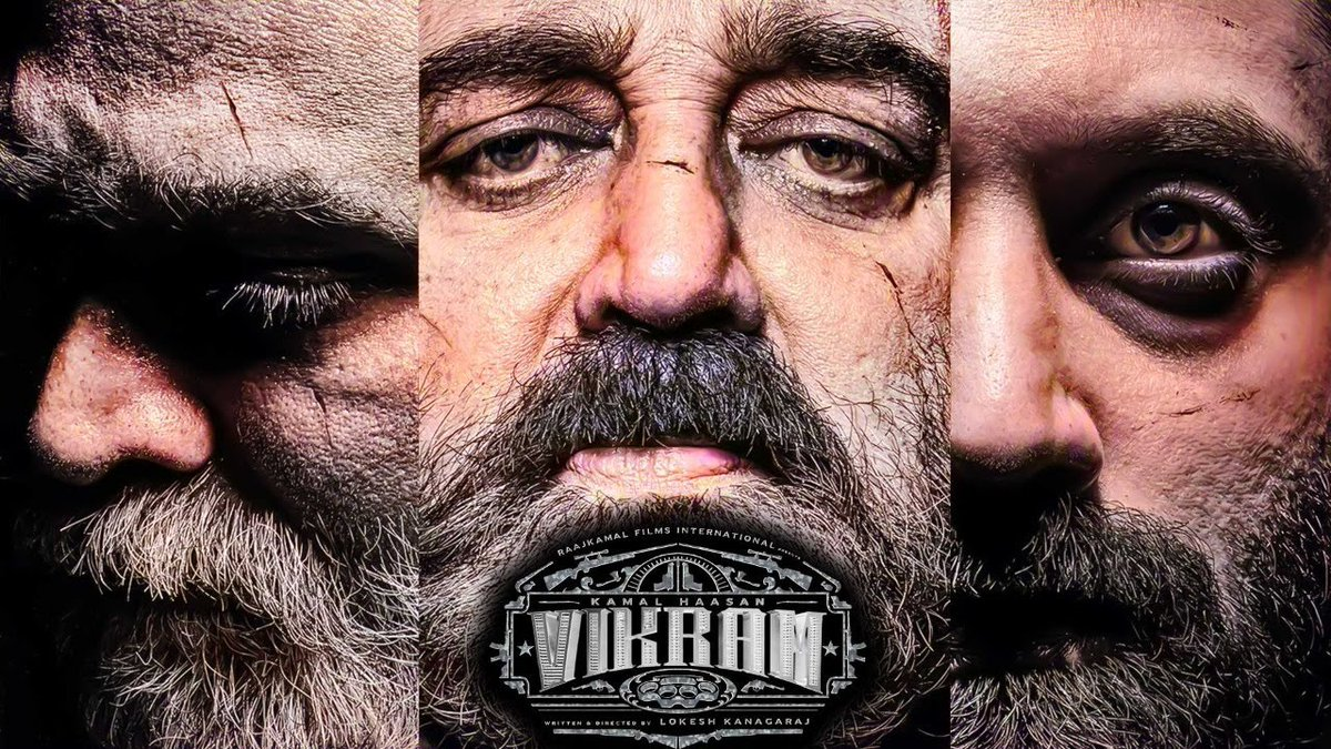 "Galatta Media on Twitter: ""🔴Official: Vikram Movie Official First look  Poster | Kamal Haasan | Fahadh Faasil |Vijay Sethupathi Watch it here -  https://t.co/Y8zP1RxapL #VikramFirstLook #Vikram #KamalHaasan  #LokeshKanagaraj #VijaySethupathi ..."