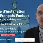 Image for the Tweet beginning: Nommé archevêque d'Avignon par le