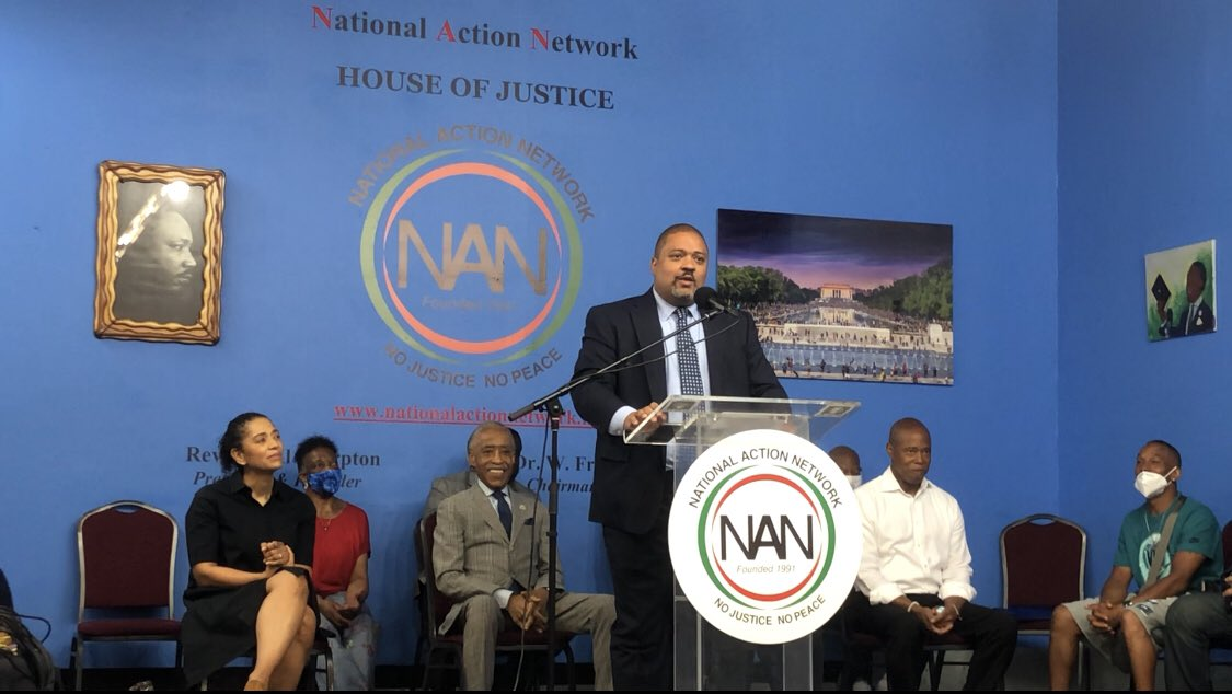 """""""Our work is just beginning… to whom much is given, much is also due."""" Blessed to start my day with family, @ericadamsfornyc and the @nationalaction community. I'm ready to get to work for Harlem and all of Manhattan. https://t.co/oVZKo0kVo1"""