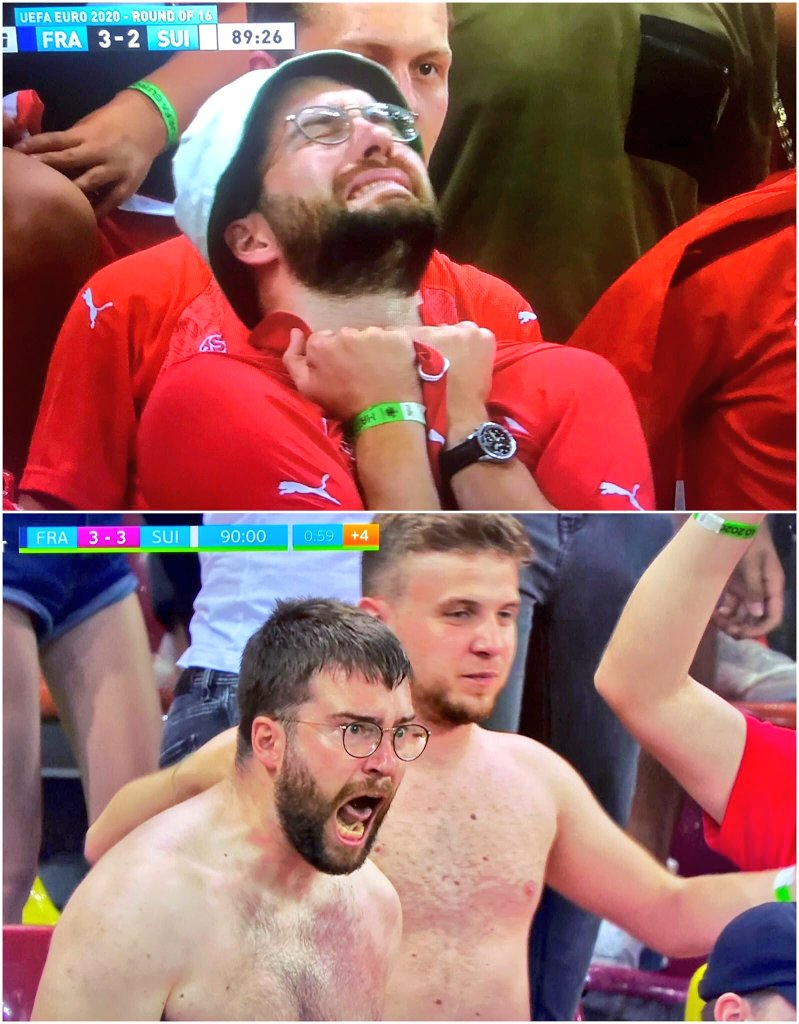 Football, bloody hell! Unbelievable.  Many, many congratulations to Switzerland, much deserved.   ⬇️ Man of the match: #FRASUI 🇨🇭 https://t.co/L7YOstYc5T
