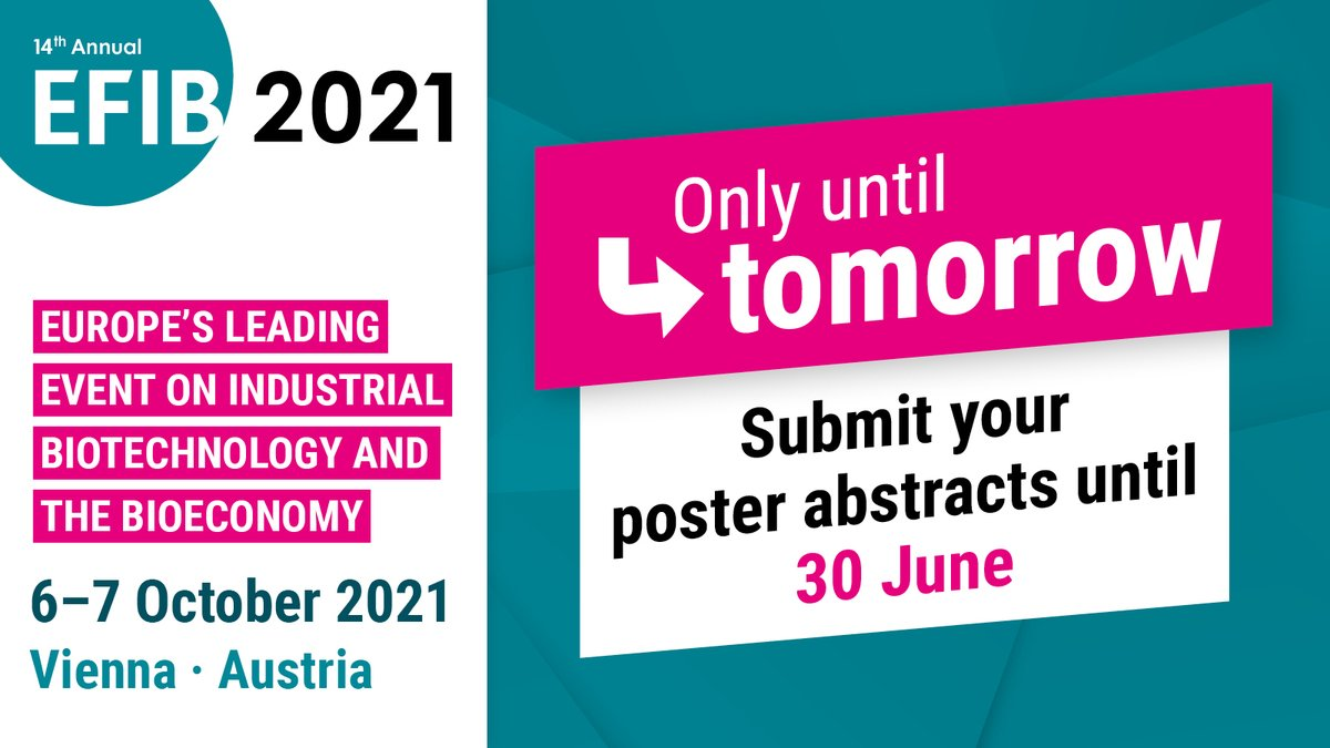test Twitter Media - ⏳ Only one day left to apply for a #freespace at @EFIBconference #StartUpVillage or submit your #poster abstracts! 🎯 Hurry up! 👇  ➡️ https://t.co/0A2dI4bkzb ➡️ https://t.co/ttsTsI6hLr https://t.co/R2lUrOMYH7