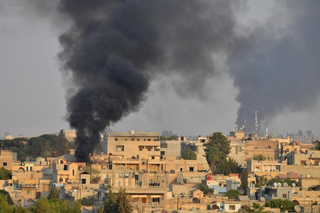 airstrikes near Syria