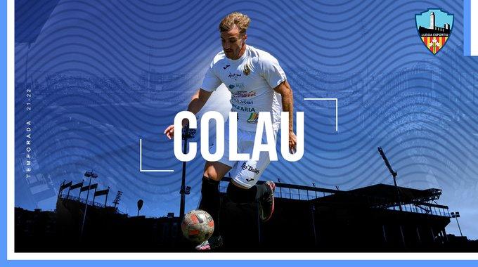 Muntatge de presentació del futbolista Colau