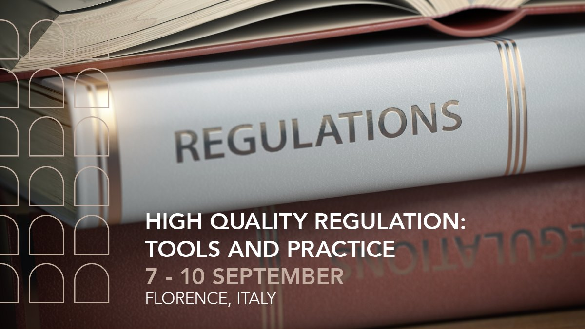 There is still time to apply to the new residential course on the Quality of Regulation with @FSR_Energy and @ProfCRadaelli @profAndreaRenda -