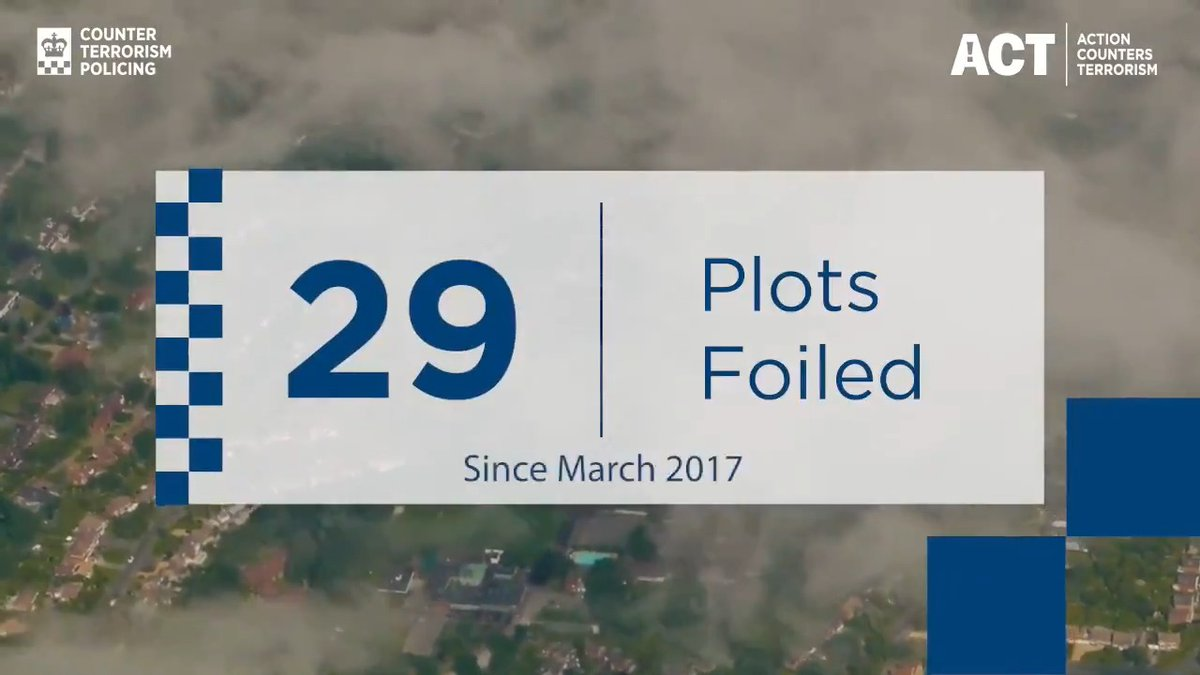 Since 2017, Counter Terrorism Policing and our intelligence partners have foiled 29 plots. We work in collaboration with other security organisations to keep the public safe.  Find out more about what we do: https://t.co/erzF337cCi https://t.co/7IrbrK0d9d