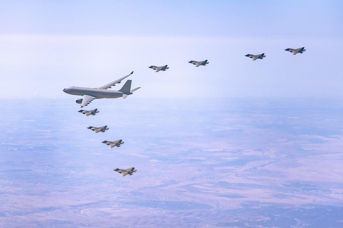 """إنتهى اليوم التمرين الجوي الدولي""""Tri-Lightning 2″ بمشاركة طائرات من نوع F35"""