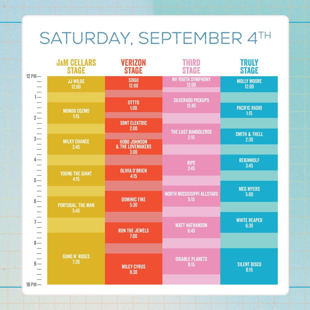 BottleRock 2021 schedule