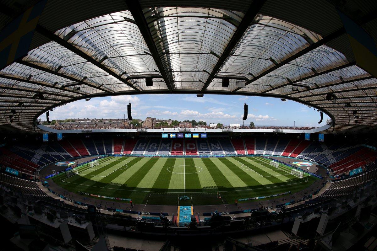 RT @EURO2020: Next stop = Hampden Park, Glasgow 🏴🏟️  🇸🇪🆚🇺🇦🔜  #EURO2020 https://t.co/AEy28NW15L
