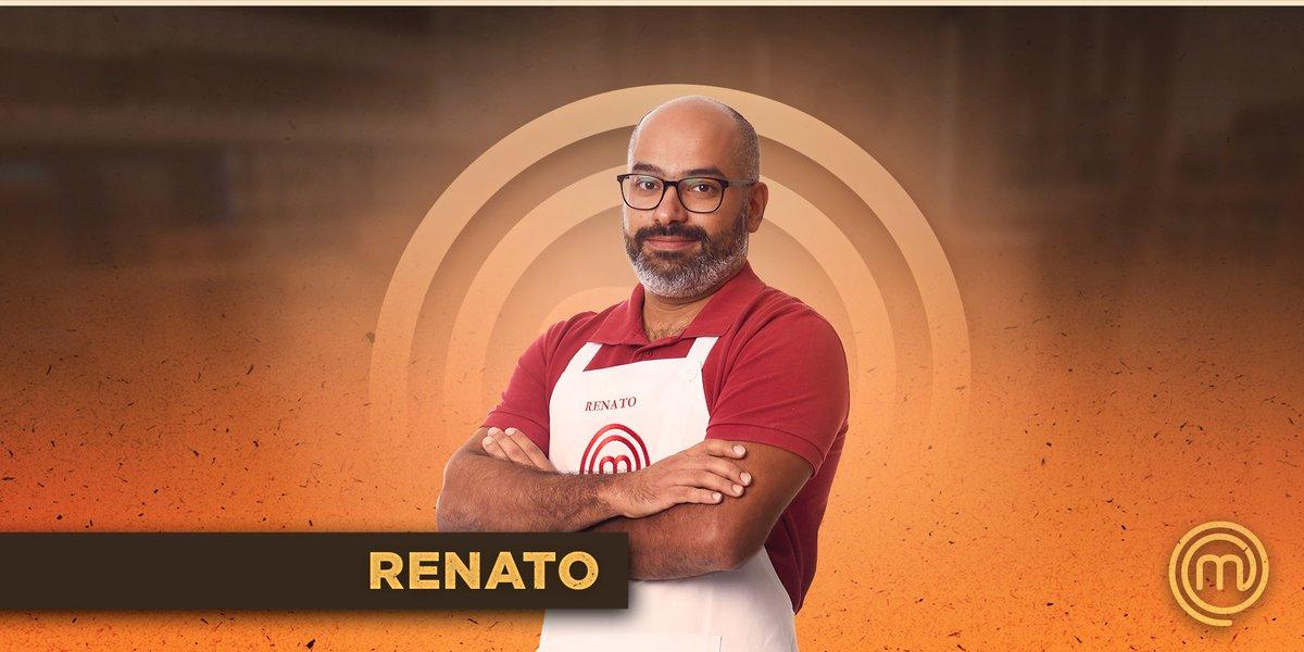 """MasterChef Brasil على تويتر: """"Participantes #MasterChefBR 2021! ✨  É a  segunda vez que Renato participa do MasterChef Brasil. De personalidade  forte, agora ele volta com força total! Estreia terça, 6, 22h30,"""