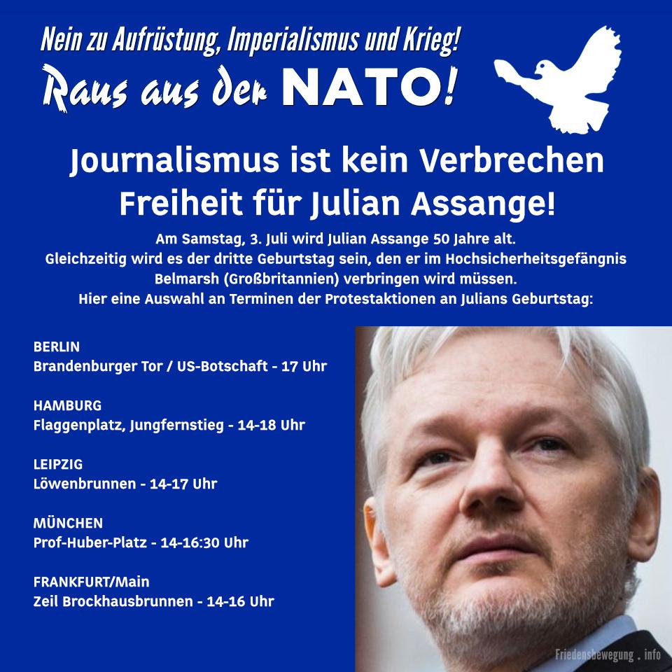 Journalismus ist kein Verbrechen - Freiheit für Julian Assange!