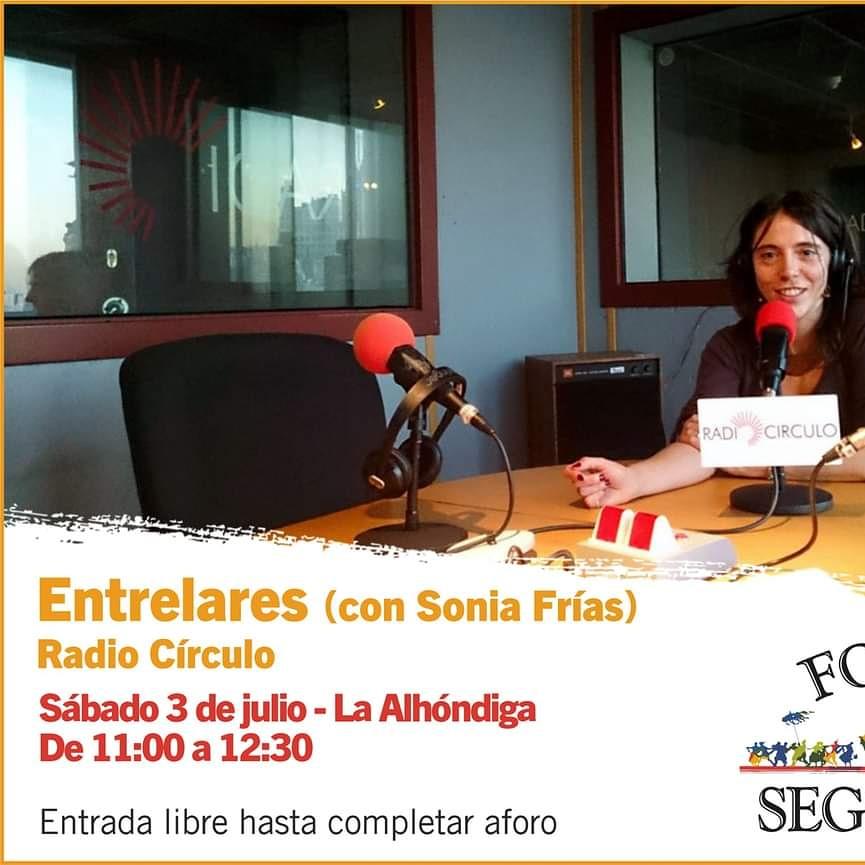 [RADIO COLABORADORA] Nuestra compañera Sonia Frías del programa @Entrelares estará presente en @FolkSegovia este sábado.