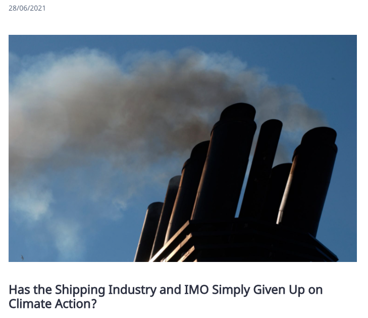 """Image for the Tweet beginning: """"Has the Shipping Industry and"""