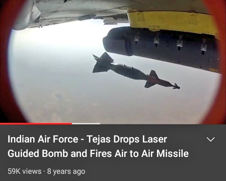 Original footage of LCA Tejas droping bomb