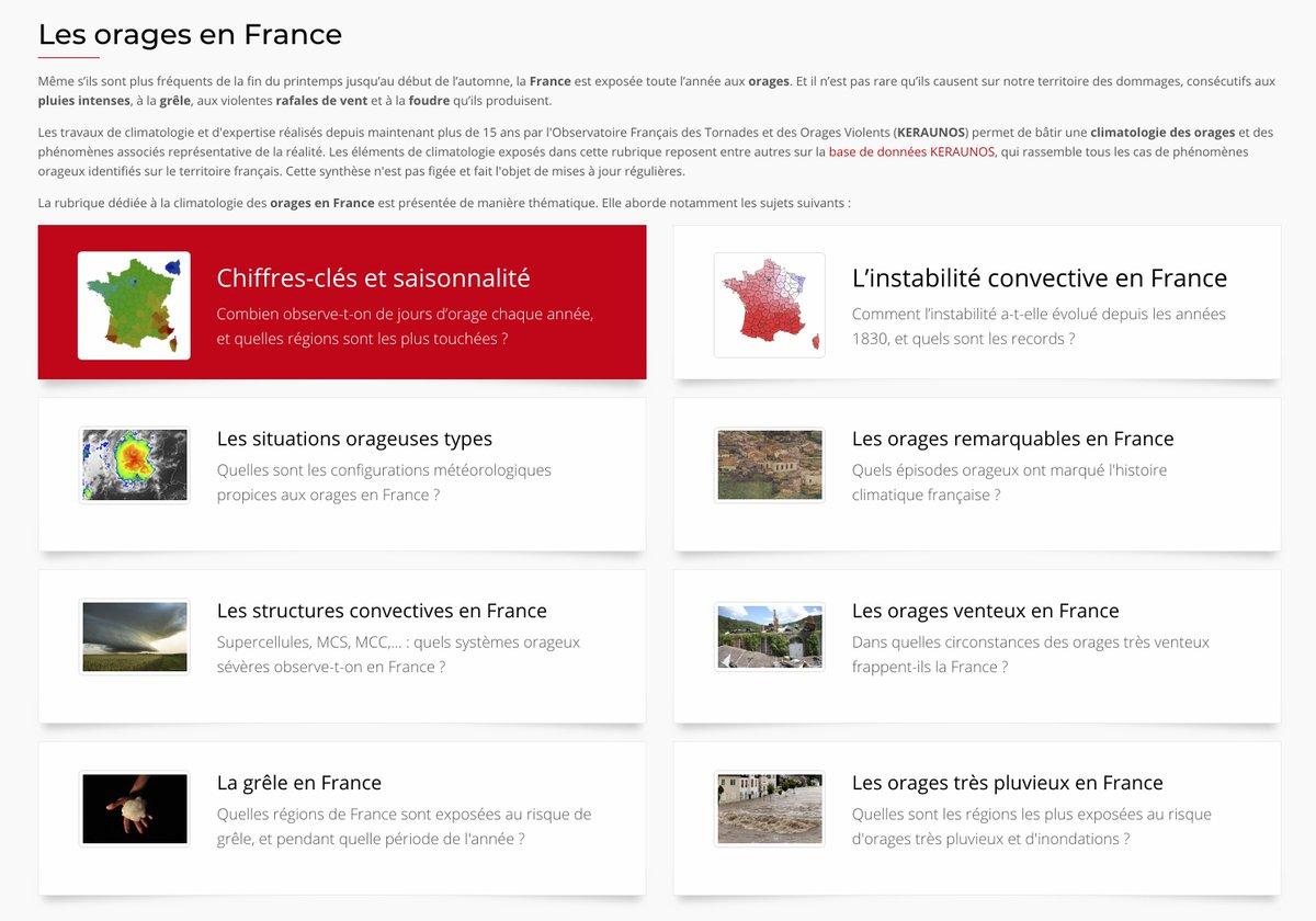Pour tout savoir sur les #orages en #France, n'hésitez pas à consulter nos pages dédiées. Vous y trouverez entre autre, toutes les informations sur leurs structures, la grêle, ainsi que des données statistiques complètes.