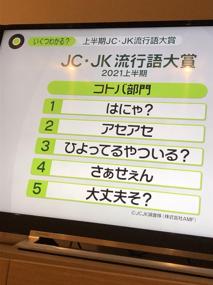 『はにゃ?』や『アセアセ』が流行中!JC・JK流行語大賞が発表!