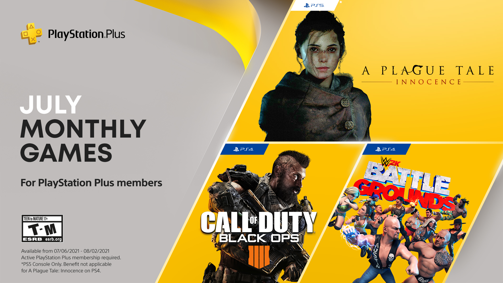 PS Plus Free Games July 2021