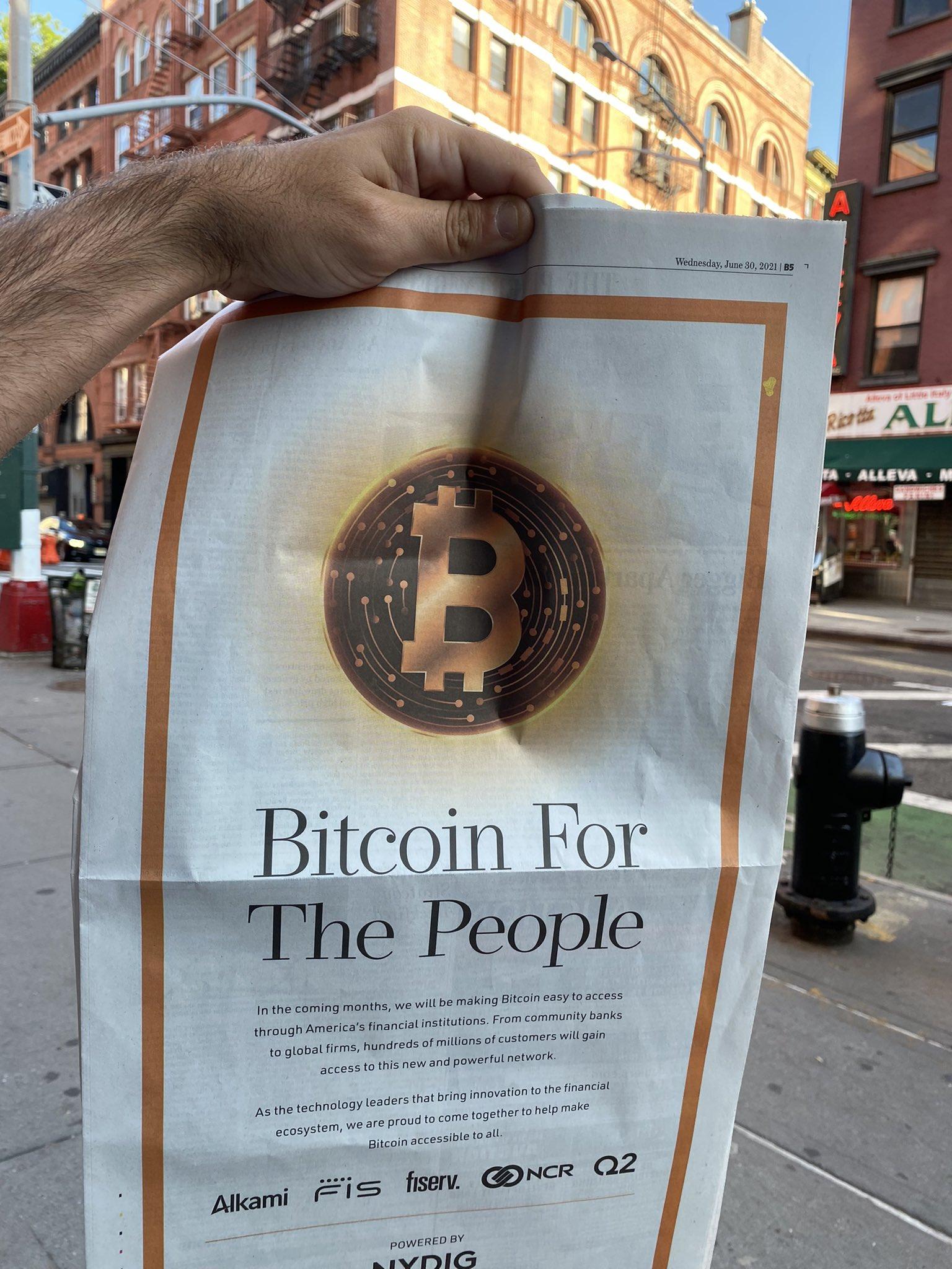 il bitcoin wall street journal