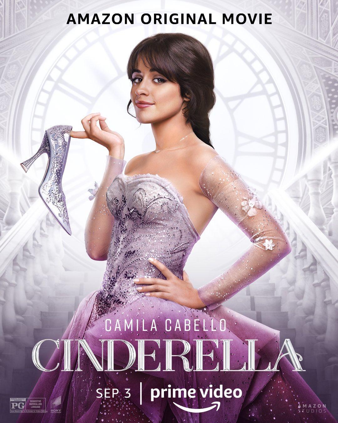 poster officiel du film de comédie musicale Cinderella avec Camila Cabello.