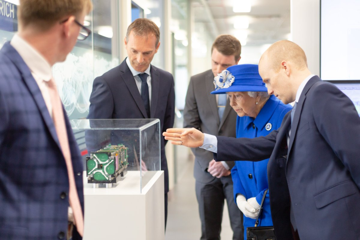 ICYMI, earlier this week @SpireGlobal hosted some VIPs at their Glasgow office. There, Her Majesty and Her Royal Highness learned how data from the company's satellite constellation helps us learn more about our planet 👑