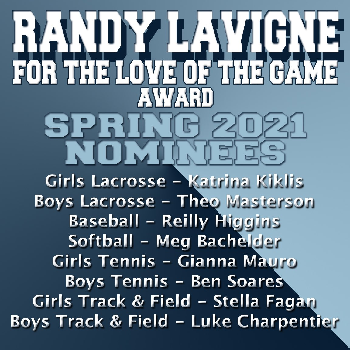 """test Twitter Media - Check out Instagram to see who was chosen as our two Spring 2021 Randy Lavigne """"For the Love of the Game"""" Award recipients! https://t.co/ZO9ulQ9jO4"""