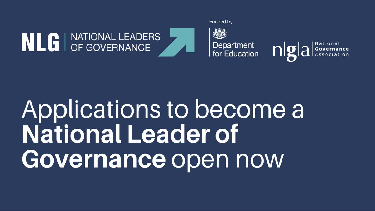Applications for National Leaders of Governance now open.
