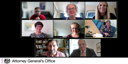 The Attorney General attended a virtual all staff event with @GovernmentLegal today, where he thanked staff for their continuing work to provide high quality legal support for the implementation of the Government's agenda.
