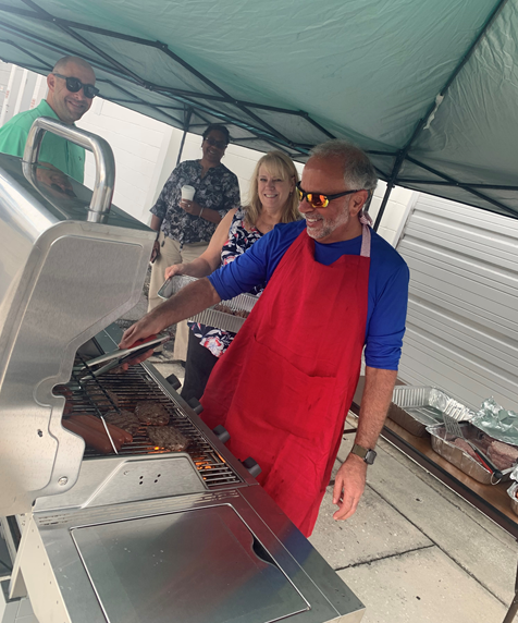 test Twitter Media - The BST Global US team got ready for #IndependenceDay2021 with a BBQ lunch. Who knew Mr. Greenberg, Director, Infrastructure & Cloud Services was so good on a grill!? https://t.co/TQ7mDwX7CO