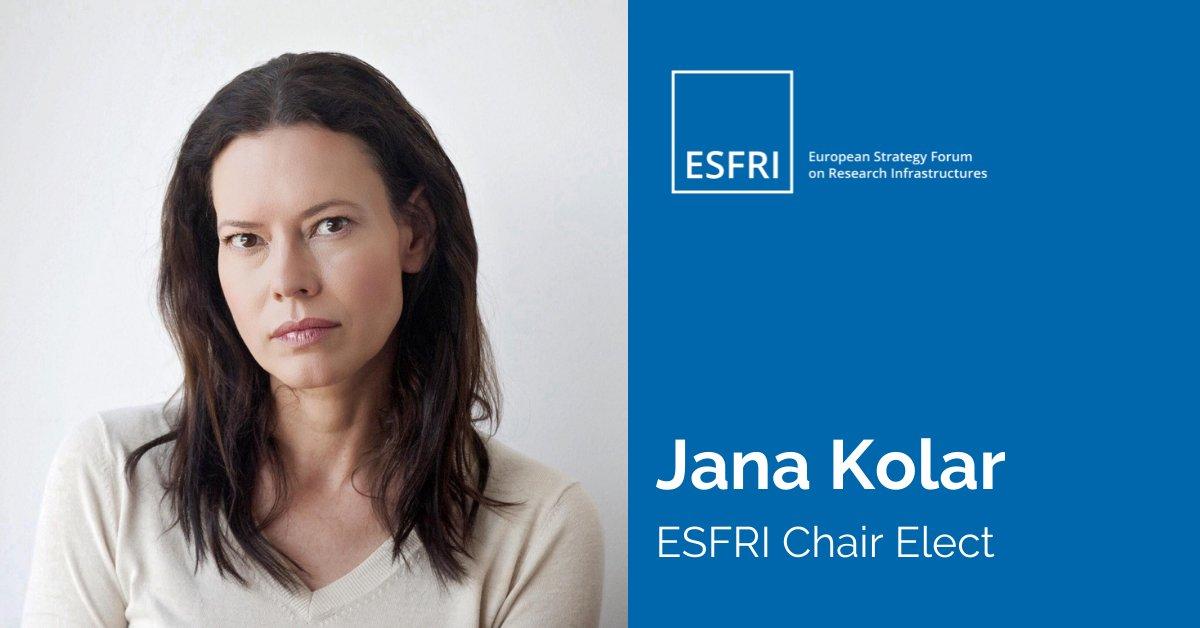 Congratulations to our Executive Board member, @kolarjana, for her election as next @ESFRI_eu Chair