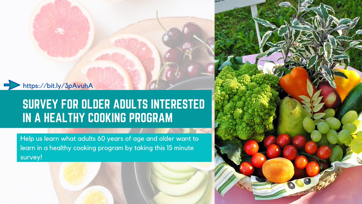 Last chance to help us with this study on cooking behaviors!