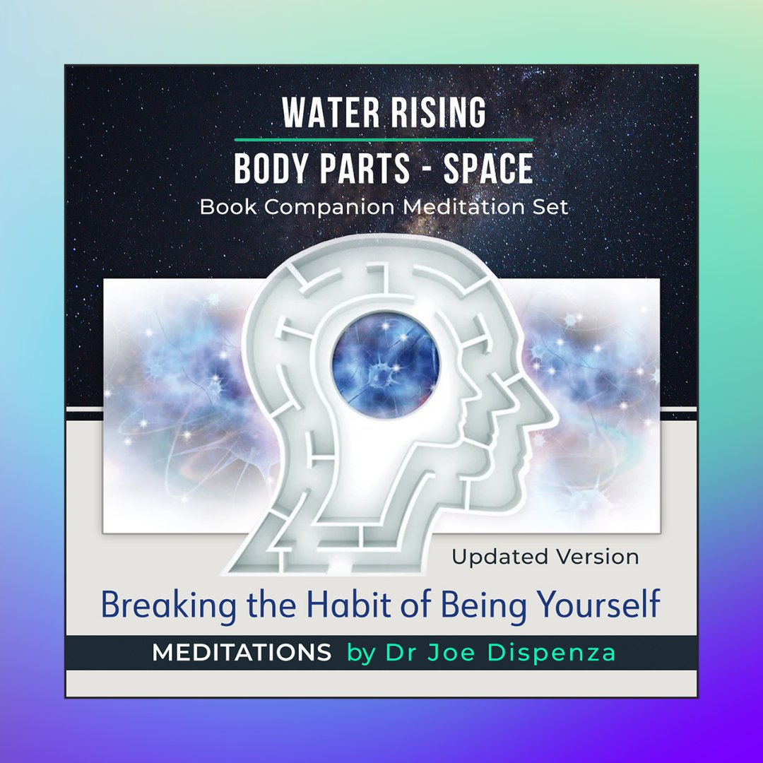 """We're so excited to announce the release of updated versions of the companion meditations to the book """"Breaking the Habit of Being Yourself"""", Water Rising and Body Parts – Space. Available as a set of 2, or individually. To learn more please click the link https://t.co/MPIh9TkRy8 https://t.co/kImHAIbswp"""